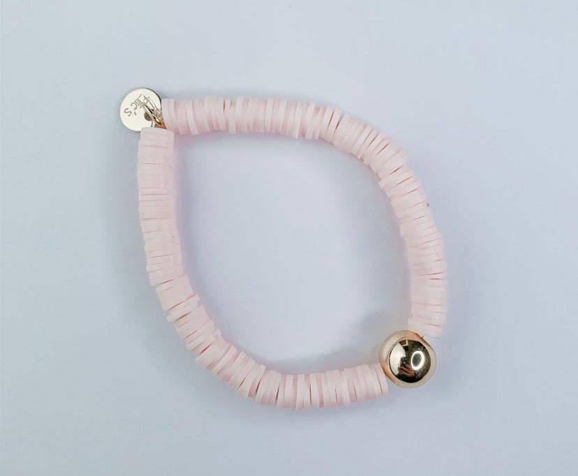 Soft Blush Stretchy Bracelet