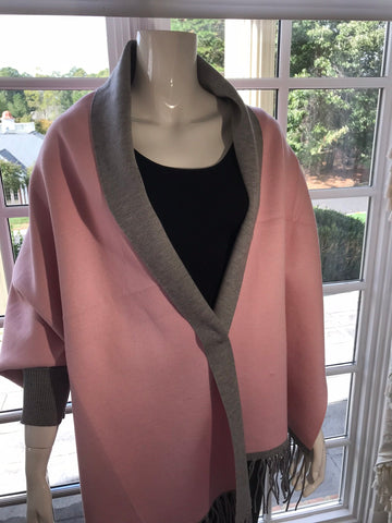 Gia Wrap ~ pink and gray ~ reversible