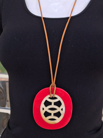 Bullhorn Necklaces ~ 5 color combinations