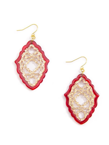Embellished Lattice Earrings