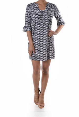 Lilly  Black and Grey Dress