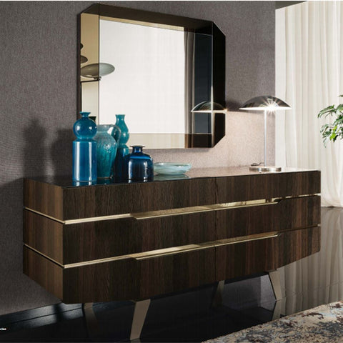 ALF Italia Accademia Double Dresser Termocotto Contemporary Italy Dark Walnut