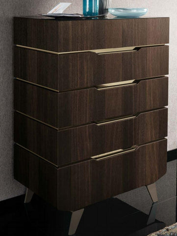 ALF Italia Accademia High Chest Termocotto Contemporary Italy Dark Walnut