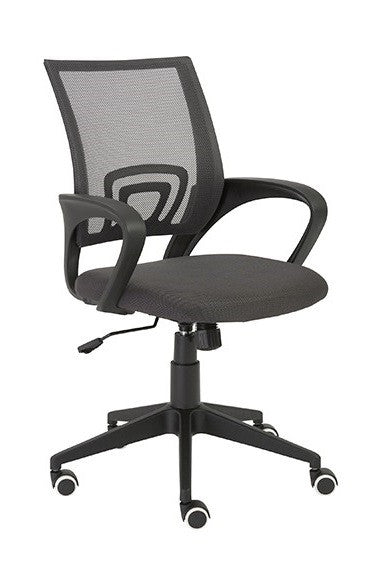Eurostyle Machiko Office Chair with a Nylon Seat, Mesh Back, and Black Base/Arms