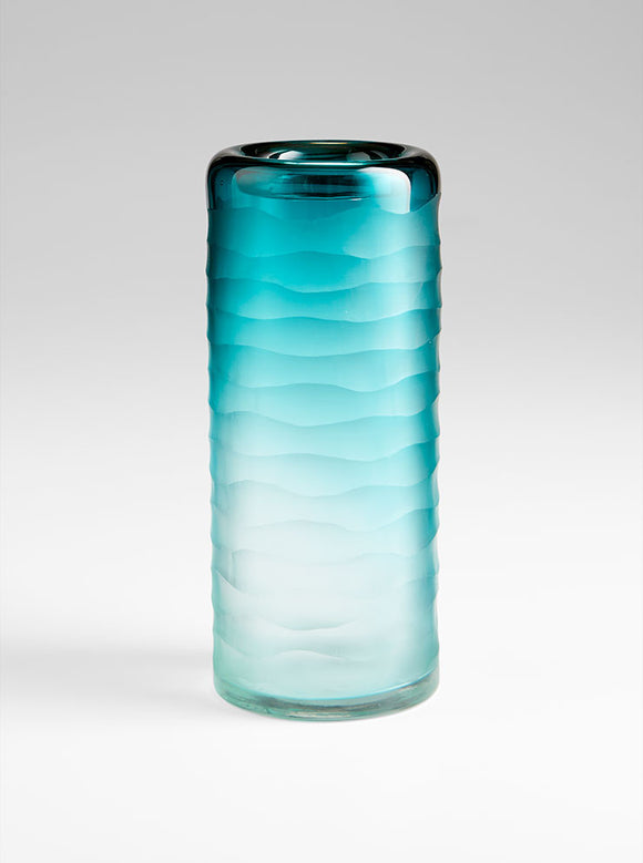 Cyan Design 06694 Vase in Blue and Clear