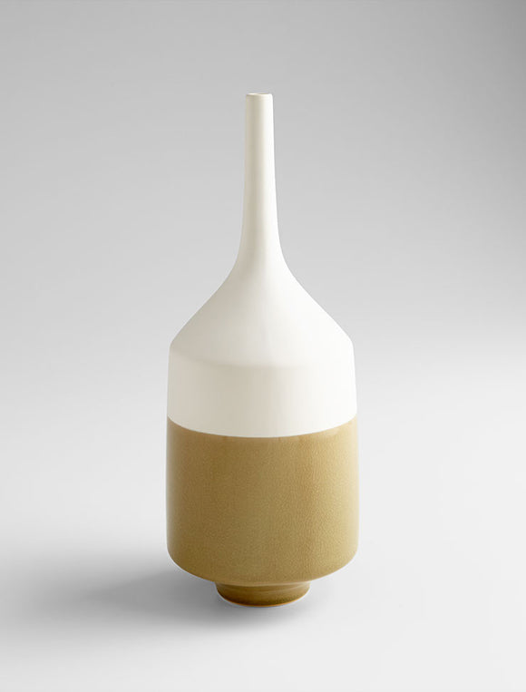 Cyan Design 06888 Vase in White and Olive