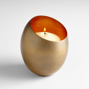 Cyan Design 07109 Candleholder in Brass & Gold