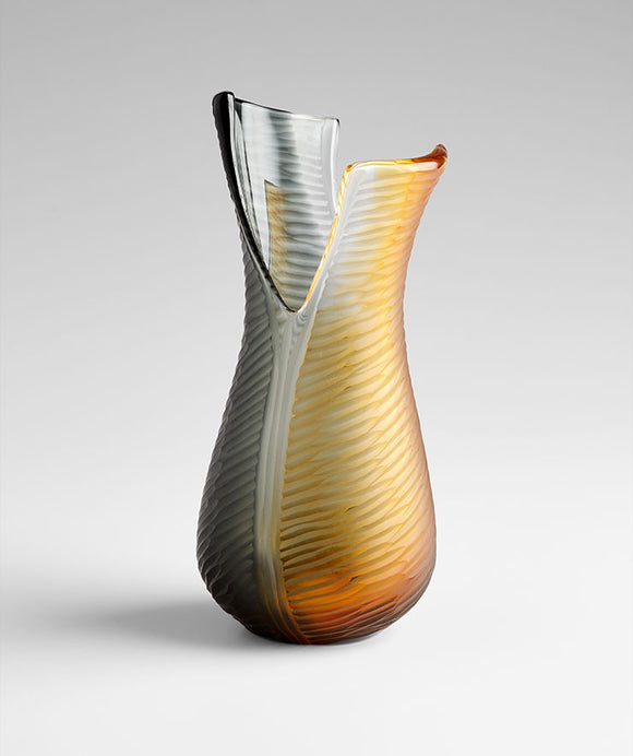 Cyan Design 07800 Vase in Amber & Smoked