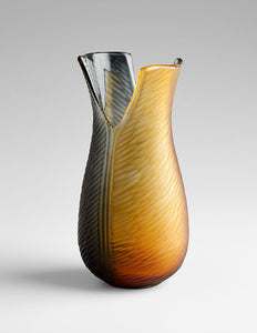 Cyan Design 07801 Vase in Amber & Smoked