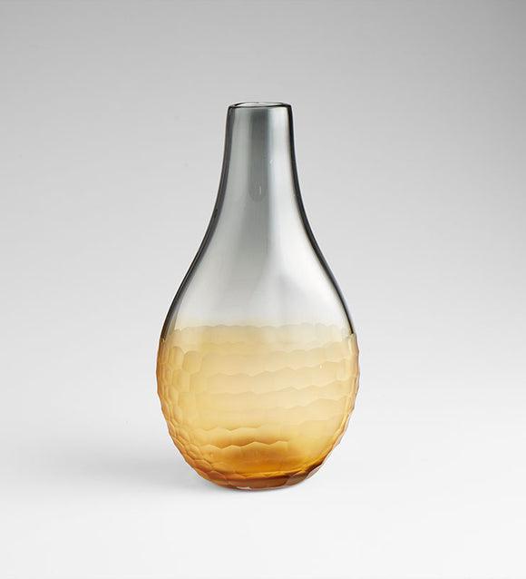 Cyan Design 07854 Vase in Amber & Smoked
