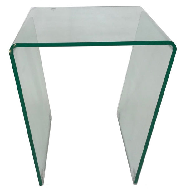 Ital Studio Togo End Table in Glass