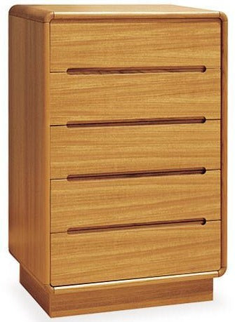 Sun Cabinet 813010 High Chest with Soft Edges in Teak