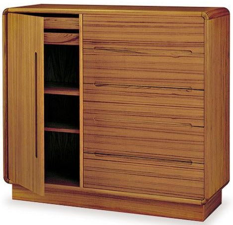 Sun Company 816010 Gents Chest with Soft Curves in Teak