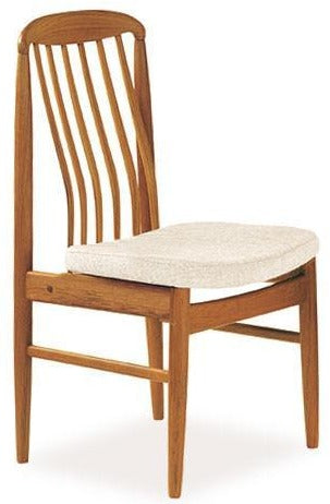 Sun Company BL10 Dining Chair in Teak with Beige Fabric Seat