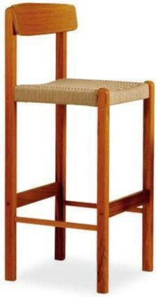 Sun Cabinet BL24 Barstool in Teak with Rope Seat