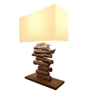 Bellini Imports Picturesk Linera Table Lamp in Natural Wood