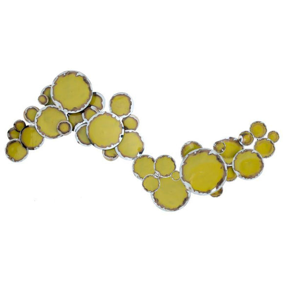 Artisan House Lemon drops 320830 Artwork in Yellow Metal