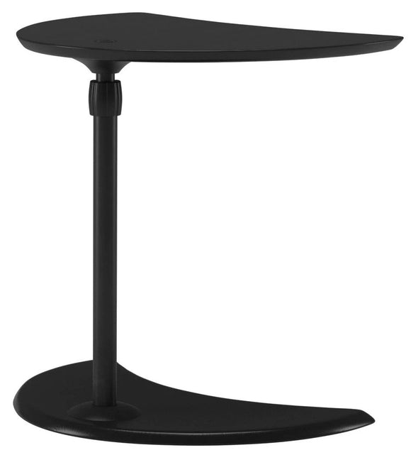 Ekornes USB Table A End Table with a Black Top, Stem, and Base