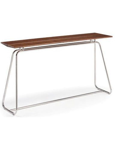 Greenington Paris Bar Table Exotic Cognac Chrome