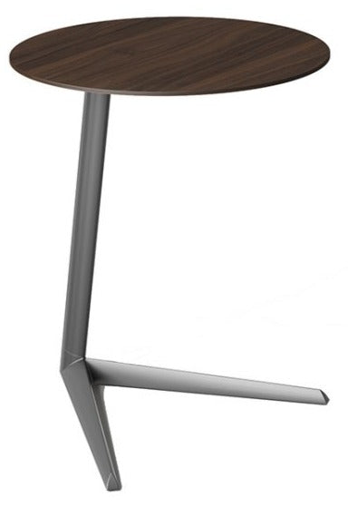 BDI 1055 Milo End Table in Toasted Walnut with a Steel Base