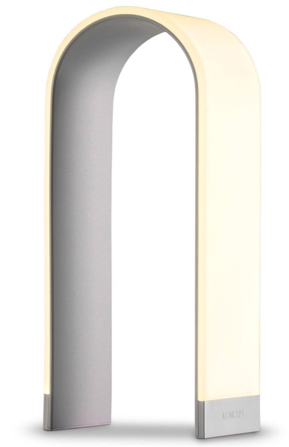 Koncept Mr. N Tall Table Lamp in Soft White Silver
