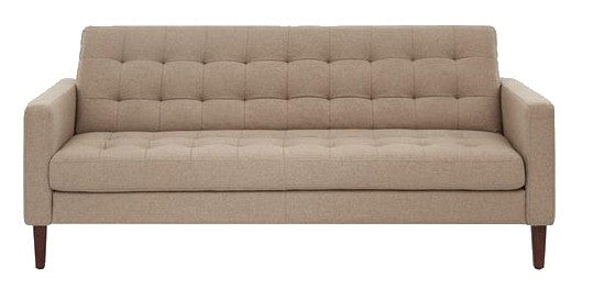 Actona Bloom Sofa in Sand Fabric and Wood Legs