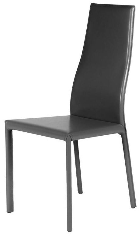 Ital Studio Joelle Dining Chair in a Black Leather Textile