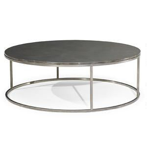 Natuzzi Italia T100M03 Cabaret Coffee Table with a Pewter Grey Top and Metal Legs