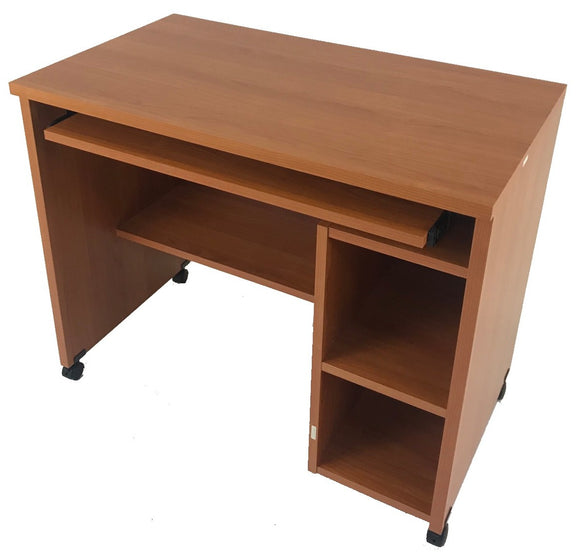 Scanbirk 30665 Desk in a Cherry Melamine on Castors