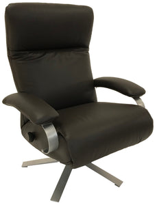 Lafer Carrie Recliner in Espresso Leather and a Graphite Base