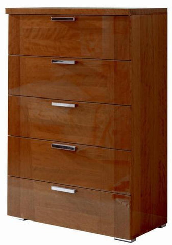 ALF Italia Sedona KJSD115CL Cherry High Gloss High Chest Bedroom Furniture