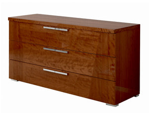 ALF Italia Sedona KJSD120CL Cherry High Gloss Double Dresser Cherry High Gloss Bedroom Collection