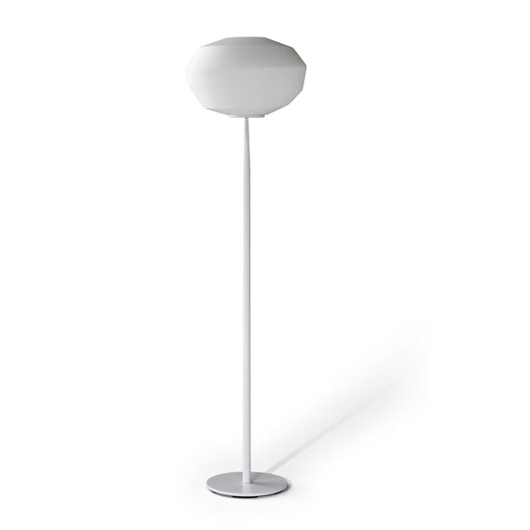 Natuzzi Astra Floor Lamp Abat Jour White Glass Shade
