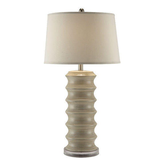 Anthony California 364 T ceramic and has a taupe lamp shade