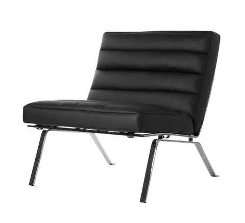 Chairtech Firenze Ital Studio Black Leather; White Leather Occasional Accent Chair