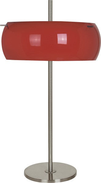 Ital Studio Guzzi Table Lamp in Rust Color and Nickel