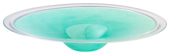 Cyan Design 04041 Plate in Turquoise And Clear