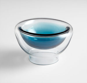 Cyan Design 06122 Bowl in Clear and Cobalt