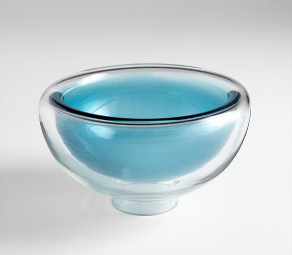 Cyan Design 06124 Bowl in Clear and Cobalt