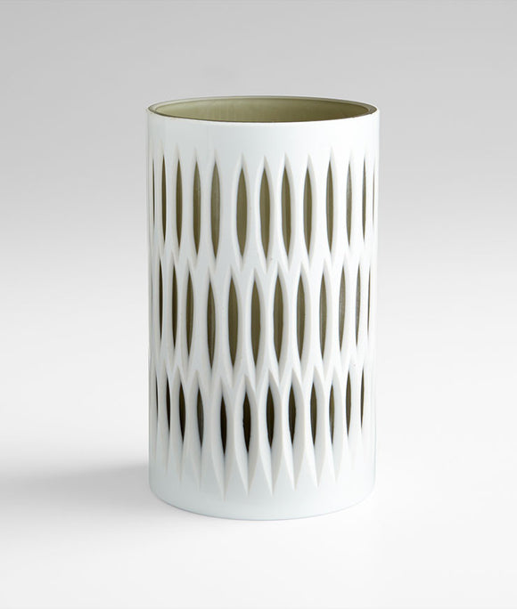 Cyan Design 06757 Vase in White & Smoked