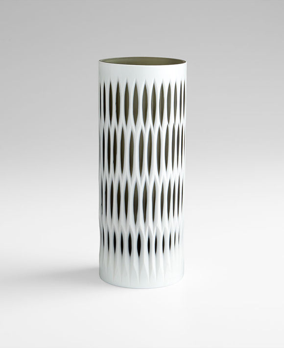 Cyan Design 06758 Vase in White and Smoked