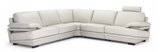 Natuzzi Editions Plaza Sectional Anthracite 15H2 Leather