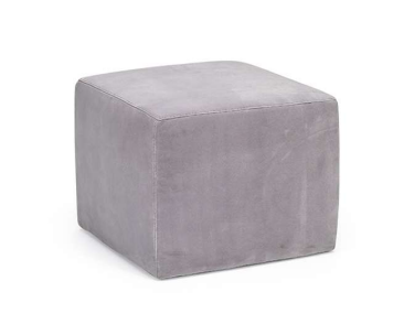 Natuzzi 1921-224 Light Grey Square Ottoman