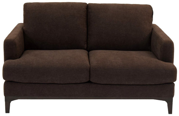 Natuzzi B970 Nostalgia Loveseat in a Chocolate Fabric Seat
