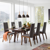 Ekornes Stressless Madeira Dining Table in Walnut with Integrating Leaf