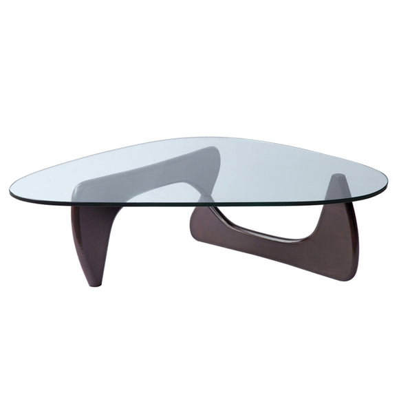 Ital Studio Goccia Coffee Table with Wenge Legs and Glass Top