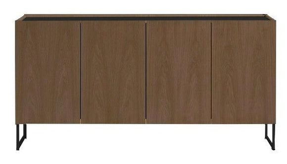 Skovby 404 Sideboard in Walnut Wood with Black Steel Legs