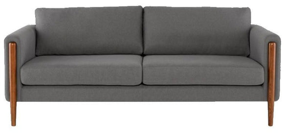 Scandinavian Design Steen Sofa with a Steel Grey Fabric Seat and Walnut Stained Ash Legs