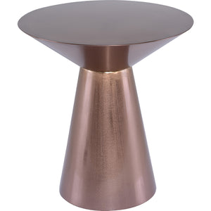 Nuevo HGSX448 Owen End Table in a Brushed Copper