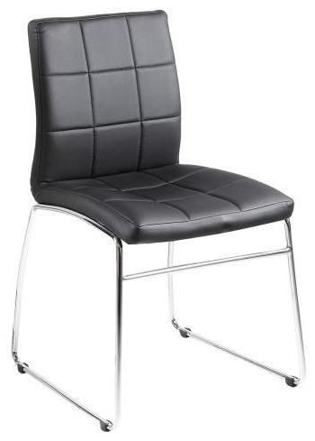 Actona Hot Black Seat Chrome Base